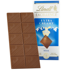 Lindt Excellence Chocolate, Extra Creamy Milk Chocolate Bars, 4.4 Oz, Box Of 12