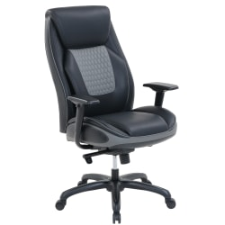 Shaquille O'Neal™ Nereus Bonded Leather High-Back Executive Chair, Black