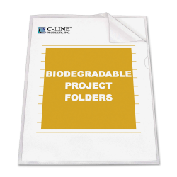 C-Line® Project Folders, Letter Size, Clear, Box Of 25