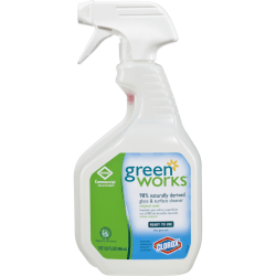 Green Works® Natural Glass & Surface Cleaner Spray, Original Scent, 32 Oz, Clear