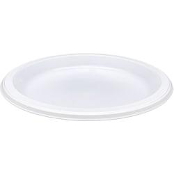 "Genuine Joe 10 1/4"" Plastic Plates, White, Pack Of 125"