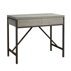 "Sauder® Manhattan Gate 45""W Writing Work Table, Mystic Oak/Bronze"