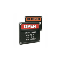 """Office Depot® Brand Double-Sided Open/Closed Message Board, 13 1/8"""" x 15 1/8"""""""