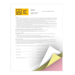 "Xerox® Revolution™ Premium Digital Carbonless Paper, 3-Part Straight, Letter Size (8 1/2"" x 11"")/Canary/Pink, Straight Collation, Case Of 1,670 Sets"