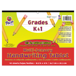 "Pacon® Multi-Sensory Handwriting Tablet Pad, 10 1/2"" x 8"", 16 Lb, White"