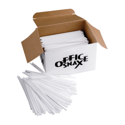 Office Snax Breakroom Stir Sticks, White, Box Of 1,000