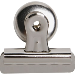 """Sparco Bulldog Magnetic Clip, Size 2, 2 1/4"""" Wide, 1/2"""" Capacity, Silver"""