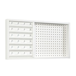 "Sauder® Craft Pro Wall Mount Peg Board With Thread Storage, 15-1/4""H x 28""W, White"