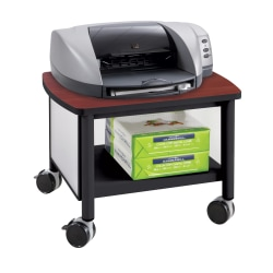 "Safco® Impromptu Under-Table Printer Stand, 14 1/2""H x 20 1/2""W x 16 1/2""D, Black/Cherry"