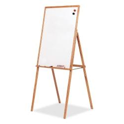 "Best-Rite® Wood Presentation Easel, 30"" x 31 1/2"" x 69 1/2"", Medium Oak Frame"