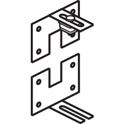 "basyx by HON Versé® Partitions, Wall-Mount Connector, 1""H x 2""W x 1 1/4""D"