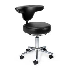 OFM Antimicrobial/Antibacterial Anatomy Chair, Black/Chrome