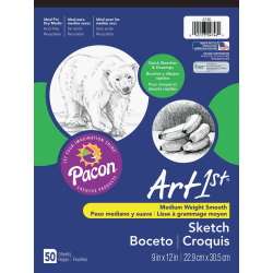 "Pacon® Art1st® Sketch Pad, 9"" x 12"", 50 Sheets"