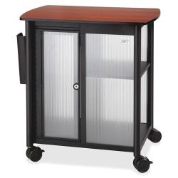 "Safco® Impromptu Polycarbonate/Laminate Personal Mobile Storage Center, 26 1/2""H x 25 1/2""W x 17 1/4""D, Black/Cherry"