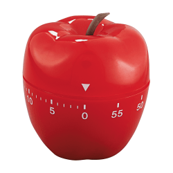 Baumgartens Shaped Timer, Red Apple, 4""
