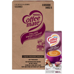 Nestlé® Coffee-mate® Liquid Creamer, Sweet Italian Crème Flavor, 0.37 Oz Single Serve x 200