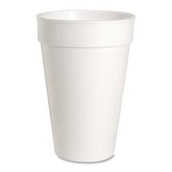 Genuine Joe Hot/Cold Foam Cups, 16 Oz, White, Carton Of 500 Cups
