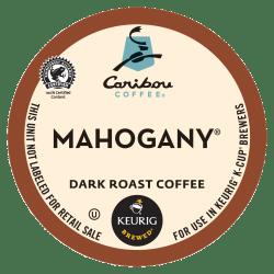 Caribou Coffee® Mahogany Coffee Single-Serve K-Cup®, Carton Of 24