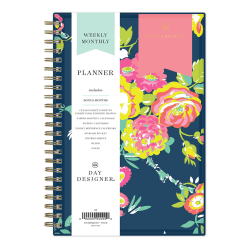 """Blue Sky™ Day Designer Weekly/Monthly CYO Planner, 5"""" x 8"""", Peyton Navy, January To December 2021, 103620"""