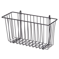 Honey-Can-Do Wire Shelf Accessory Basket, Medium Size, Black