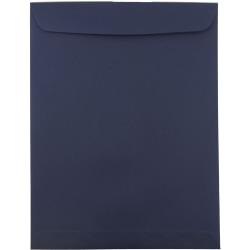 """JAM Paper® Open-End Envelopes With Gum Closure, #13 1/2 Catalog, 10"""" x 13"""", Navy Blue, Pack Of 25"""