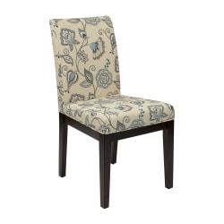 Ave Six Dakota Parsons Chair, Avignon Sky/Dark Brown