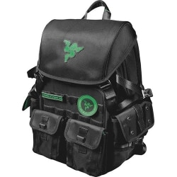 "Mobile Edge Razer Carrying Case (Backpack) for 17.3"" Notebook - Black - Water Resistant Exterior, Scratch Resistant Exterior, Tear Proof Exterior, Moisture Resistant Panel - Ballistic Nylon, MicroFiber Interior - Shoulder Strap, Chest Strap"