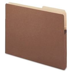 """Smead® 2/5-Cut Top-Tab File Pockets, Letter Size, 1 3/4"""" Expansion, 30% Recycled, Redrope, Box Of 25"""