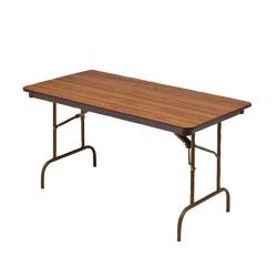"Iceberg Premium Folding Table, Rectangular, 60""W x 30""D, Oak/Brown"