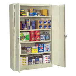 Tennsco® Jumbo Storage Cabinet, 5-Shelf, Putty