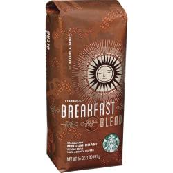 Starbucks® Breakfast Blend Whole Bean Coffee, 16 Oz Bag