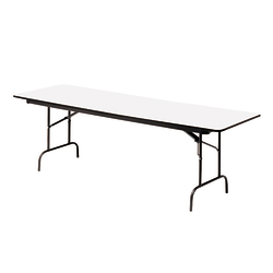 "Iceberg Premium Wood Laminate Folding Table, Rectangular, 72""W x 30""D, Gray/Charcoal"