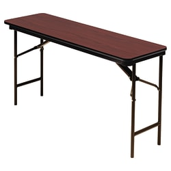 "Iceberg Premium Folding Table, Rectangle, 60""W x 18""D, Mahogany/Brown"