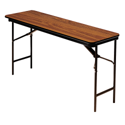 "Iceberg Deluxe Folding Table, Rectangle, 72""W x 18""D, Oak"