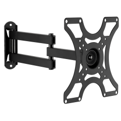 """Mount-It! Wall Mount Bracket With Full-Motion Arm For 19 - 42"""" TVs, 9.2""""H x 12.4""""W x 2.4""""D, Silver"""
