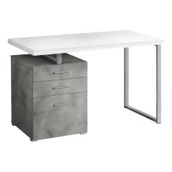 "Monarch Specialties Melody 48""W Computer Desk, White/Gray"