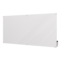 """Ghent Reversible Magnetic Dry-Erase Whiteboard, 48"""" x 96"""", Aluminum Frame With Silver Finish"""