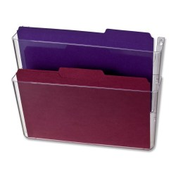 OIC® Wall Mountable Space-Saving Files, Letter Size, Clear