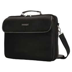 """Kensington Simply Portable 62560 Carrying Case for 15.6"""" Notebook - Black - 13.5"""" Height x 3"""" Width x 15.8"""" Depth"""