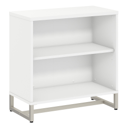 kathy ireland® Office by Bush Business Furniture Method Bookcase Cabinet, White, Standard Delivery