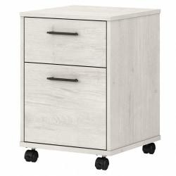 Bush Furniture Key West 2-Drawer Mobile File Cabinet, Linen White Oak, Standard Delivery
