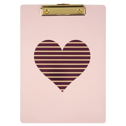 "DiVoga® Pink Heart Clipboard, 9"" x 12"", Purple"