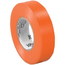 "Tape Logic® 6180 Electrical Tape, 1.25"" Core, 0.75"" x 60', Orange, Case Of 200"