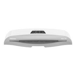 """Fellowes® Rhea Laminator With Pouch Starter Kit, 12.5"""" Width, White/Gray"""