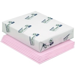 "SKILCRAFT® Color Xerographic Paper, Letter Size (8 1/2"" x 11""), Pink, Ream Of 500 Sheets, Case Of 10 Reams (AbilityOne 7530-01-150-0334)"