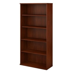 Bush Business Furniture Studio C 5-Shelf Bookcase, Hansen Cherry, Standard Delivery