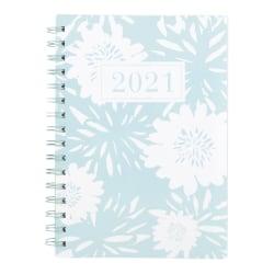 "See Jane Work® Weekly/Monthly Desk Planner, 5-1/2"" x 8-1/2"", Pastel Blue, January To December 2021, SJ106-200"