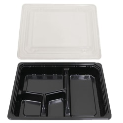 """Bento 4-Compartment Boxes, 7"""" x 9"""", Case Of 300"""