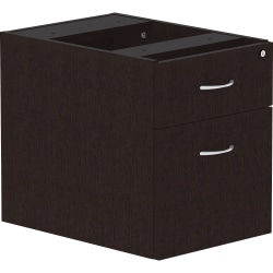"Lorell® Essentials 22""D Vertical 2-Drawer Pedestal File Cabinet, Espresso"