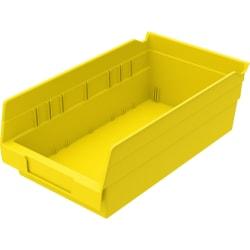 """Akro-Mils Grease/Oil Resistant Shelf Bin, 4"""" x 6 5/8"""" x 11 5/8"""", Yellow"""